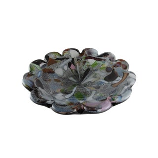 1950s Vintage Avem Murano Art Glass Bowl, Mid Century Murano Blown Glass Ashtray For Sale
