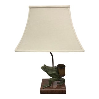 Vintage Frog Table Lamp For Sale