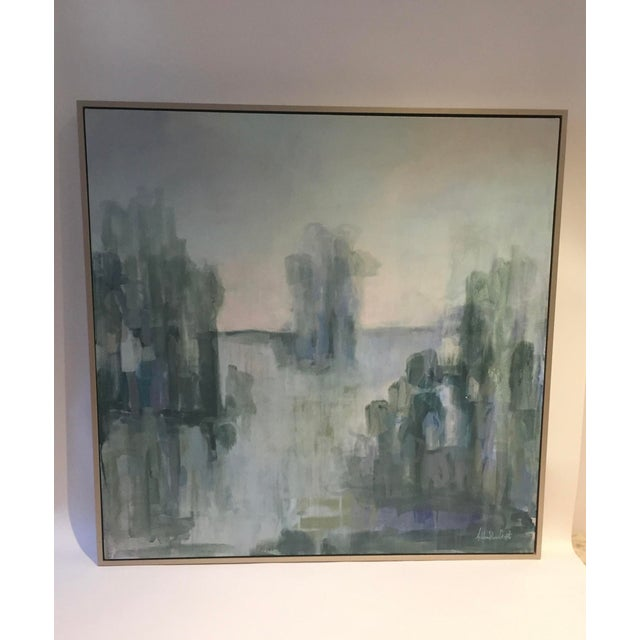 Serene Waterscape Impressionist Painting - Image 2 of 5