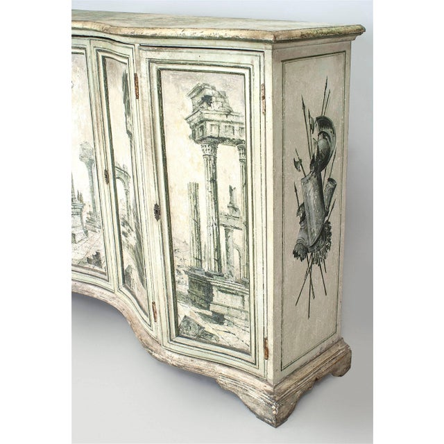 Pair of Italian Neoclassical Grisaille Painted Commodes For Sale In New York - Image 6 of 7