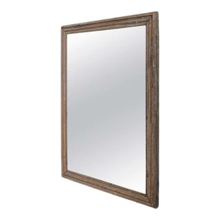 French Mercury Mirror With Wooden Back For Sale