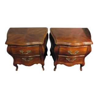 Beautiful Set of 2 - John Widdicomb Bombe Small Chests/Night Stands For Sale
