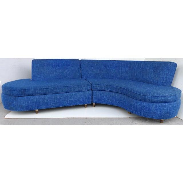 Mid-Century Modern Serpentine Sofa, circa 1950 - Image 2 of 11
