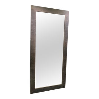 Larson Juhl Italian Over-Sized Wood Veneer Floor Mirror Amazing Deal For Sale