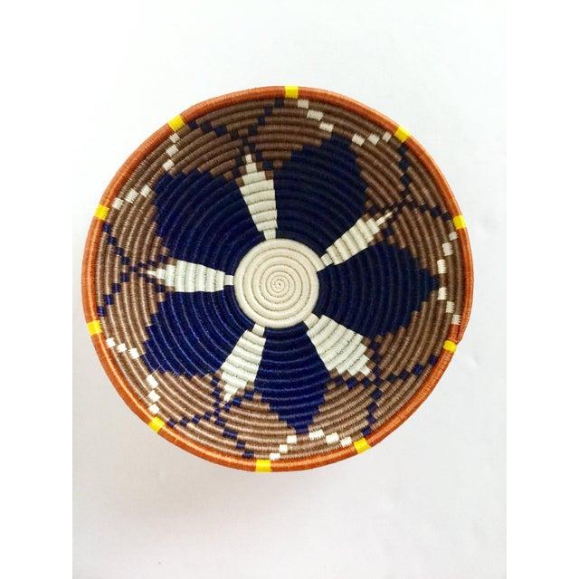 African Boho Woven Basket - Image 4 of 8
