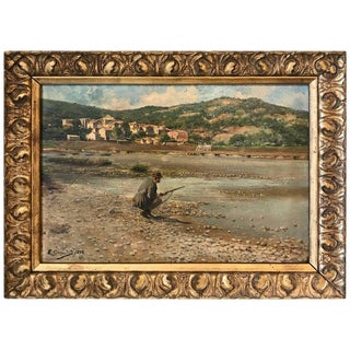 19th Century Spanish Sporting Painting by E.Gioquinto, 1892 For Sale