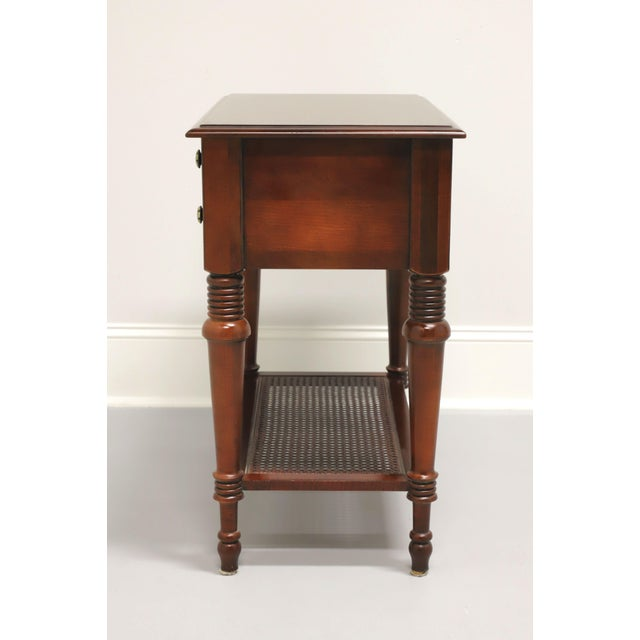 Traditional Ethan Allen Traditional Nightstand With Caned Shelf A For Sale - Image 3 of 12