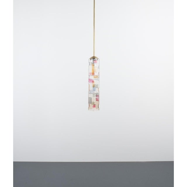 Poliarte Pair of Colored Glass Pendant Lamps Style Poliarte, Italy, Circa 1955 For Sale - Image 4 of 8