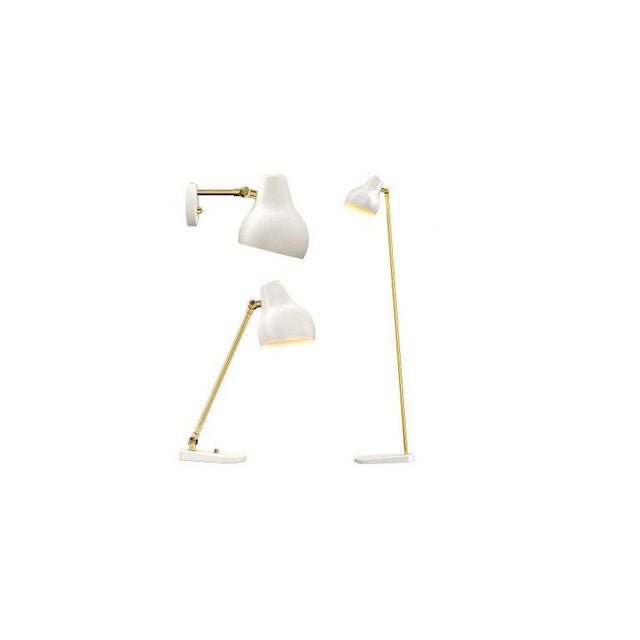 "Contemporary Modern Vilhelm Lauritzen for Louis Poulsen ""Radiohus"" White Wall Light For Sale - Image 3 of 5"