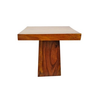 Monkey Pod Square Pillar Table For Sale
