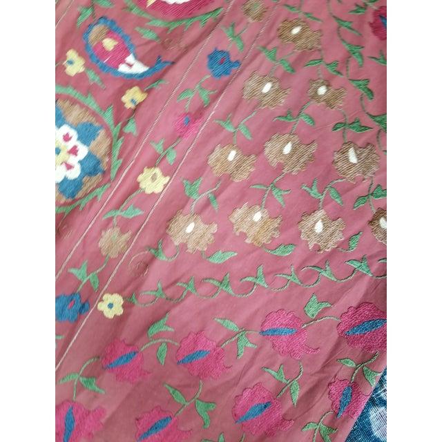 Vintage Turkish Bokara Suzani Blanket For Sale - Image 4 of 11