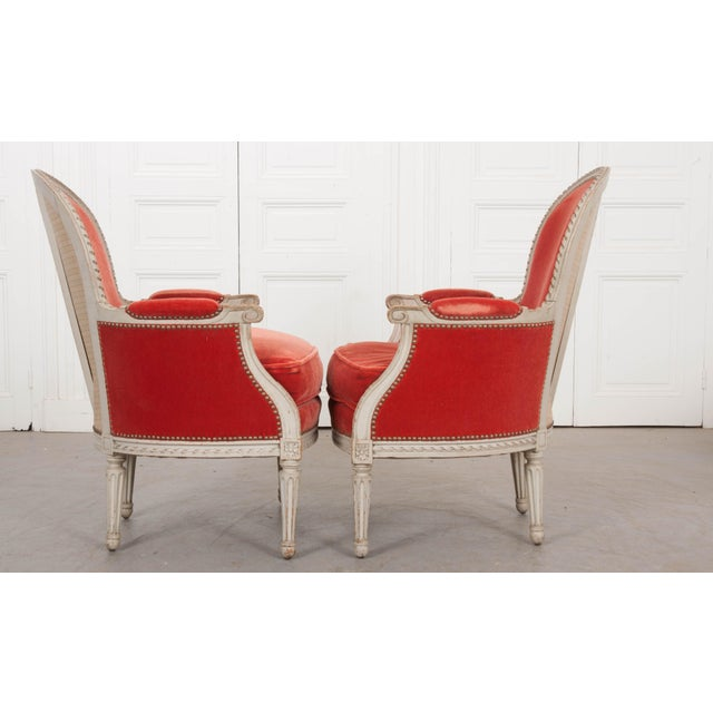 French French 19th Century Louis XVI Style Bergères -A Pair For Sale - Image 3 of 12
