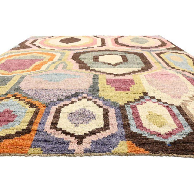 New Contemporary Moroccan Postmodern Style Rug - 10′3″ × 13′11″ For Sale In Dallas - Image 6 of 9