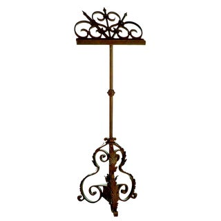 Handmade Wrought Iron Music Stand For Sale