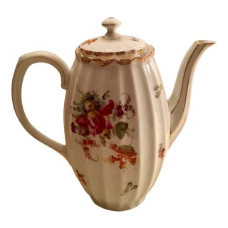 Wurttenberg German Porcelain Coffee Pot For Sale