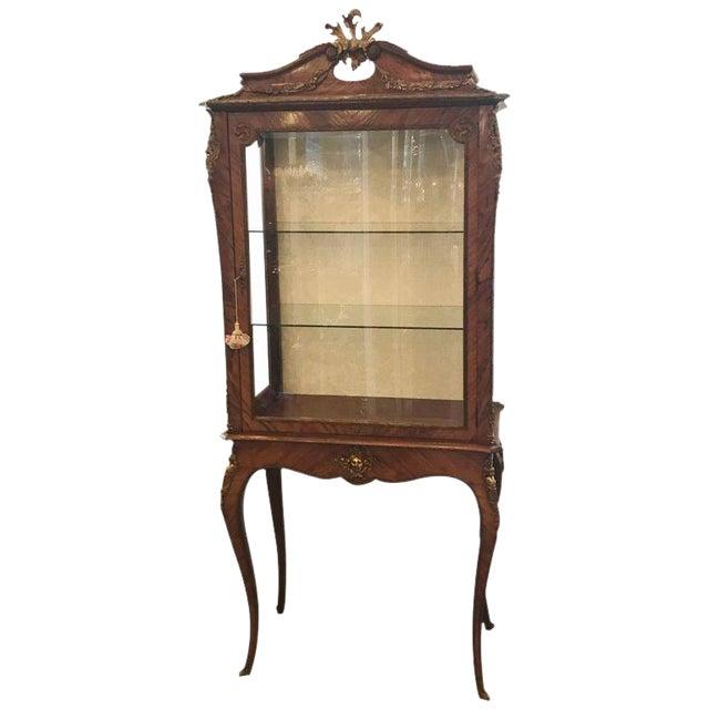 Louis XV Style Ormalu Mounted Kingwood Display Cabinet For Sale