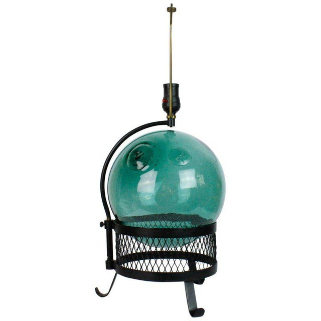 Mid-Century Japanese Fishing Float Lamp For Sale - Image 13 of 13