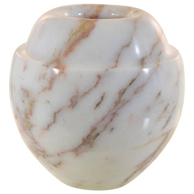 Pink Polished Marble Vase For Sale - Image 8 of 8