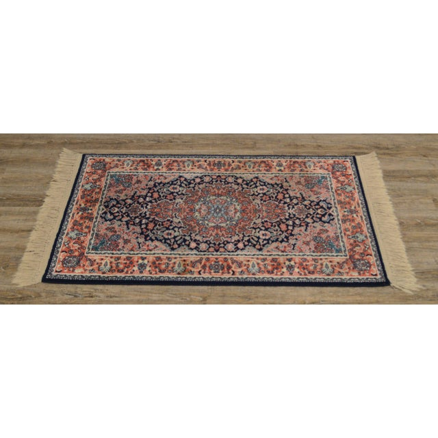 "Traditional Karastan Kashan Medallion 2'10"" X 5' Throw Rug #741 (A) For Sale - Image 3 of 13"
