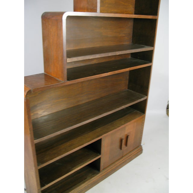 Pair of 1940s Walnut Skyscraper Bookcases For Sale In New York - Image 6 of 9