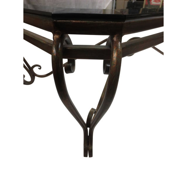 Hollywood Glam Wrought Iron and Glass Coffee Table - Image 3 of 5