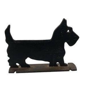 Early 20th Century Folk Art Scottie Dog Iron Doorstop