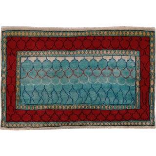 """Vintage Persian Tabriz Rug – Size: 2' 1"""" X 3' 2"""" For Sale"""