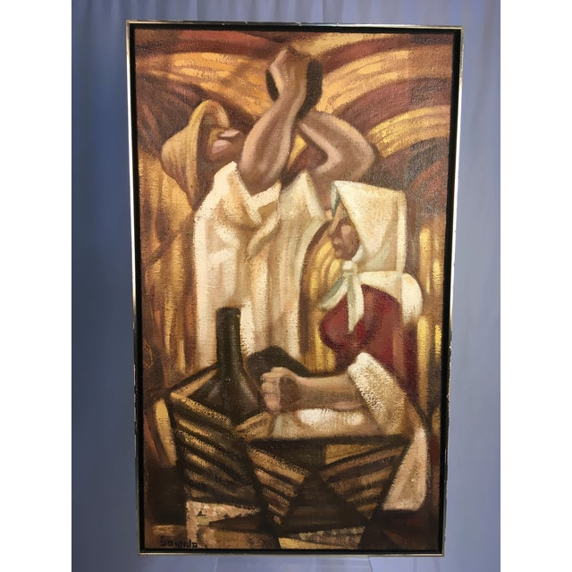 Large Spanish Abstract Expressionist Painting by Angelo Segredo For Sale - Image 9 of 9