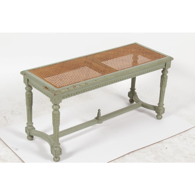 Antique Louis XVI Style Painted Bench - Image 3 of 10