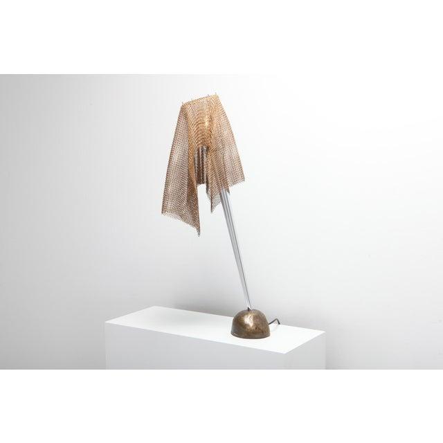 "Toni Cordero Artemide Chain Mail Table Lamp ""Anchise"" by Toni Cordero For Sale - Image 4 of 10"
