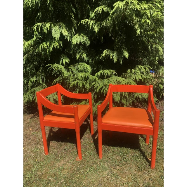 "1960s Vintage Vico Magistretti ""Carimate"" Chairs for Cassina- A Pair For Sale - Image 11 of 11"