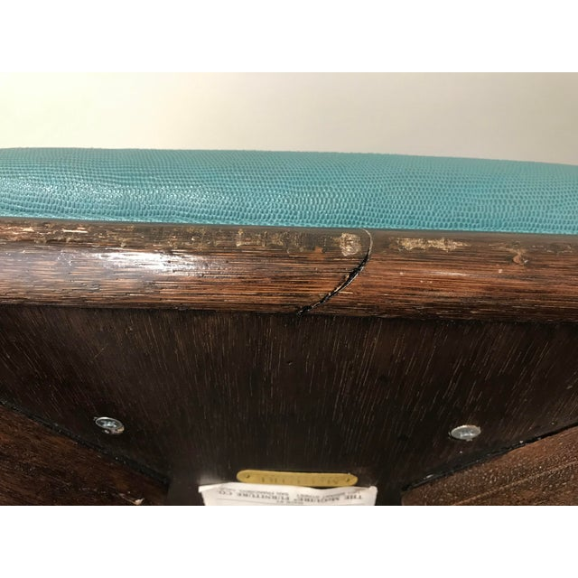 2000 - 2009 Teal Leather Like McGuire Bar Stools - a Pair For Sale - Image 5 of 12