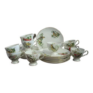 1970s Vintage Royal Tuscan China Dessert Dishes-24 Pieces For Sale