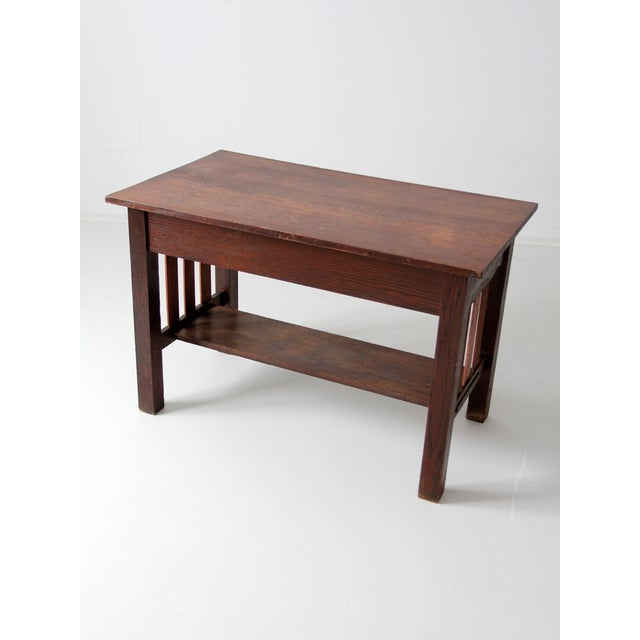 Antique Mission Style Desk - Image 8 of 8