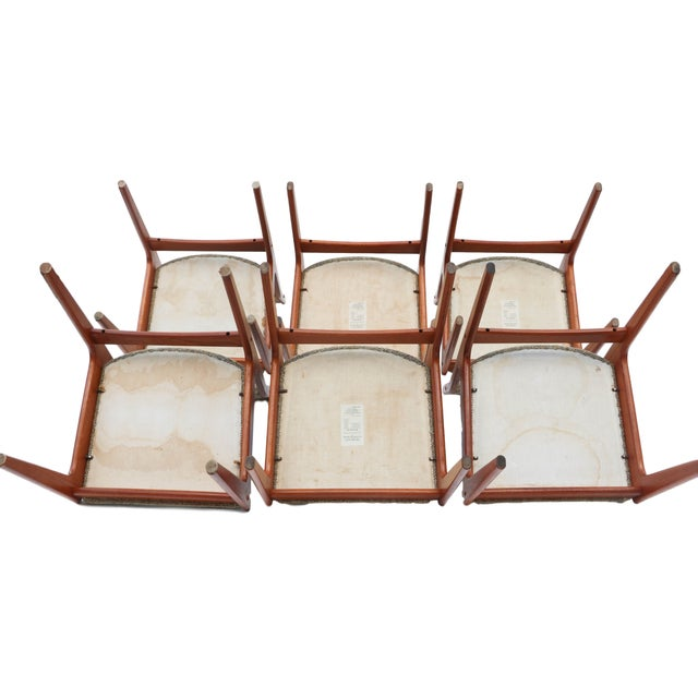 Scandinavian Danish Modern Teak Dining Chairs- S/6 - Image 7 of 10