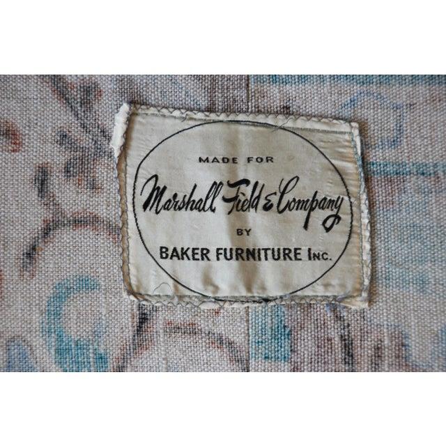 Baker Furniture Mid-Century Tufted Brown Velvet Sofa For Sale - Image 11 of 12