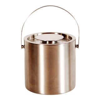 Mid-Century Danish Modern Stainless Steel Ice Bucket by Arne Jacobsen for Stelton For Sale