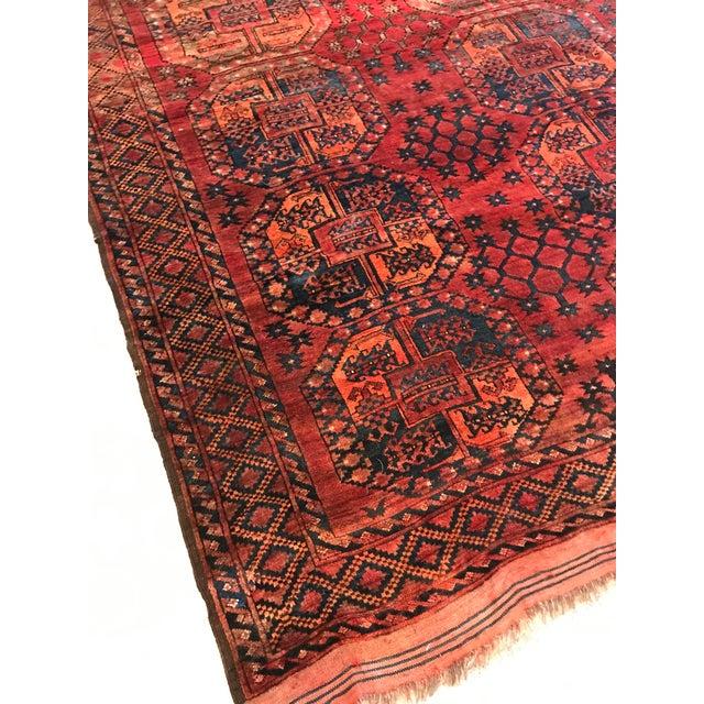 Vintage Handwoven Afghan Rug - 8′ × 10′6″ - Image 9 of 9