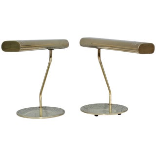 Mid-Century Modern Brass Swivel Table Lamps For Sale