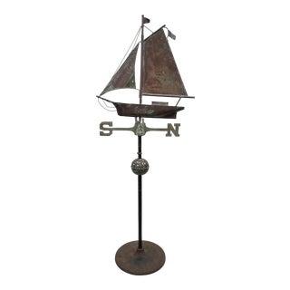 Antique Copper Boat Weathervane For Sale
