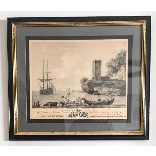 Antique French Nautical Engravings - a Pair For Sale - Image 5 of 12