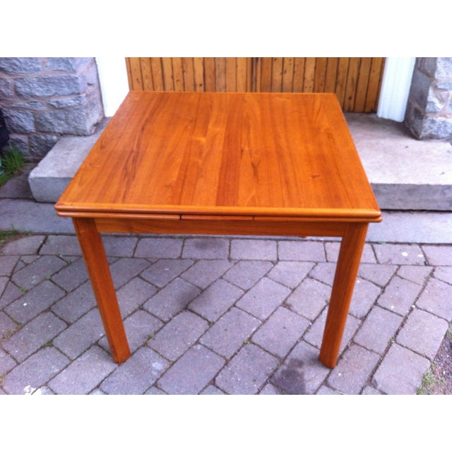 Danish Modern Drop-Leaf Dining Table - Image 4 of 7