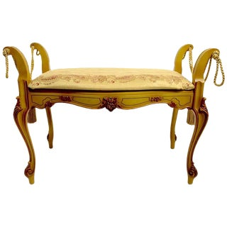 Romantic Vanity Bench in the French or Italian Style For Sale