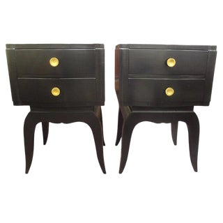 French Art Deco Chests in the Manner of Jules Leleu-A Pair For Sale