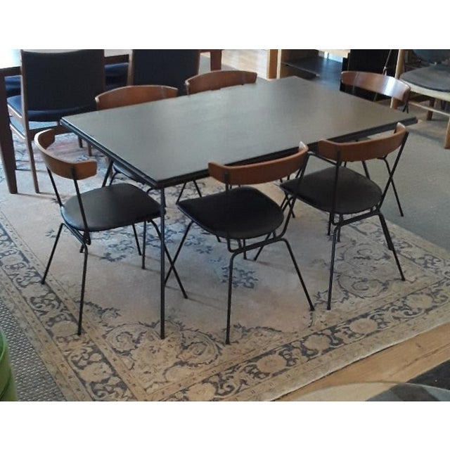 Brown 1950s Mid-Century Modern Clifford Pascoe Dining Set - 7 Pieces For Sale - Image 8 of 8
