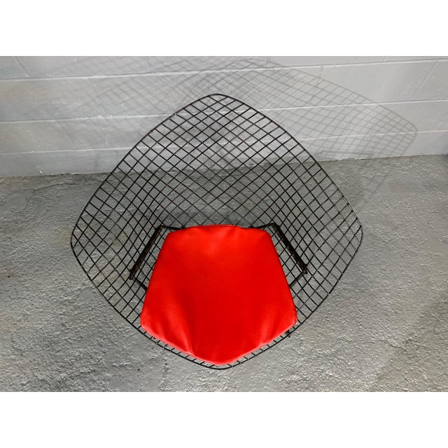Harry Bertoia for Knoll Mid-Century Modern Diamond Chair With Red Seat C. 1952 For Sale - Image 10 of 13