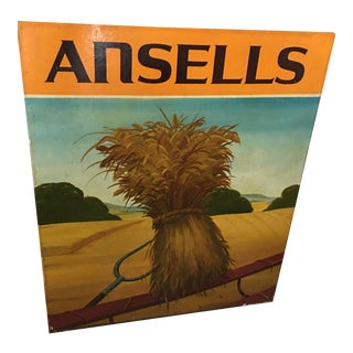 """Ansells"" Vintage English Pub Sign Decor For Sale"