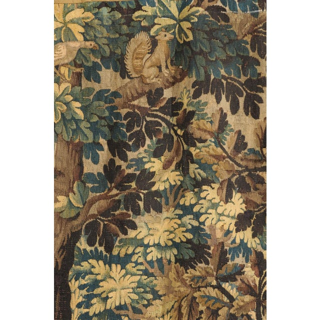 Textile Pair of 19th Century French Handmade Vertical Tapestries with Pastoral Scenes For Sale - Image 7 of 12