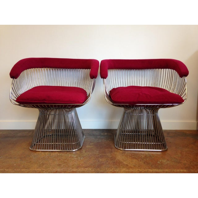 Vintage Warren Platner Style Chairs - A Pair - Image 2 of 5
