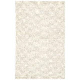 Jaipur Living Karlstadt Handmade Solid Taupe/ White Area Rug - 8′ × 10′ For Sale